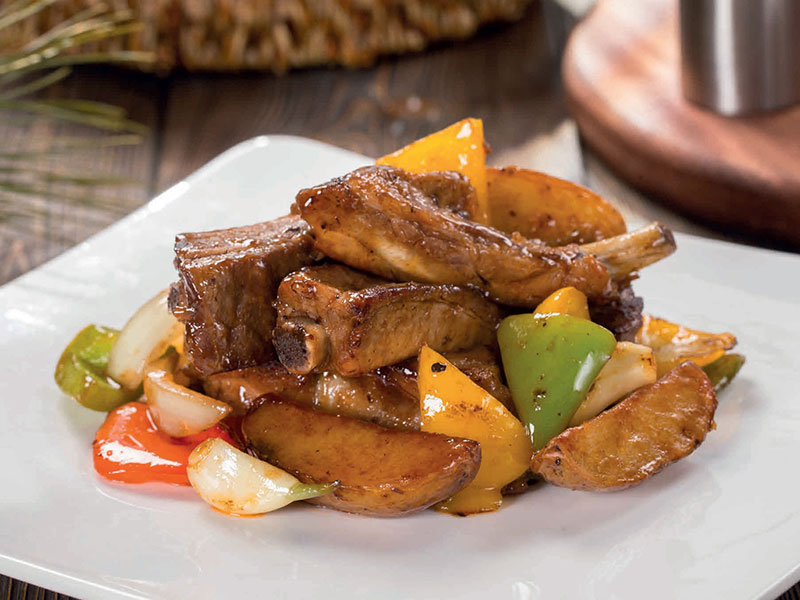 Pork ribs in honey sauce