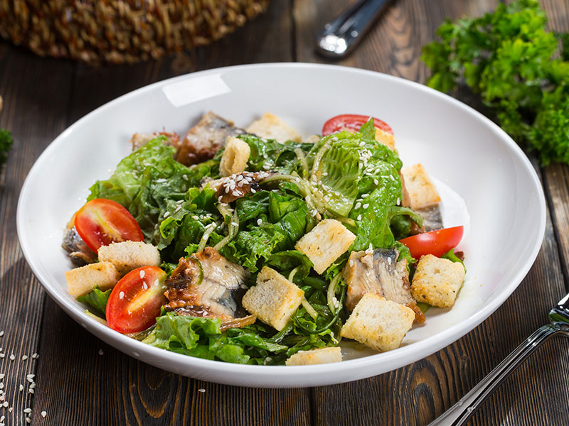 Caesar salad in Japanese style