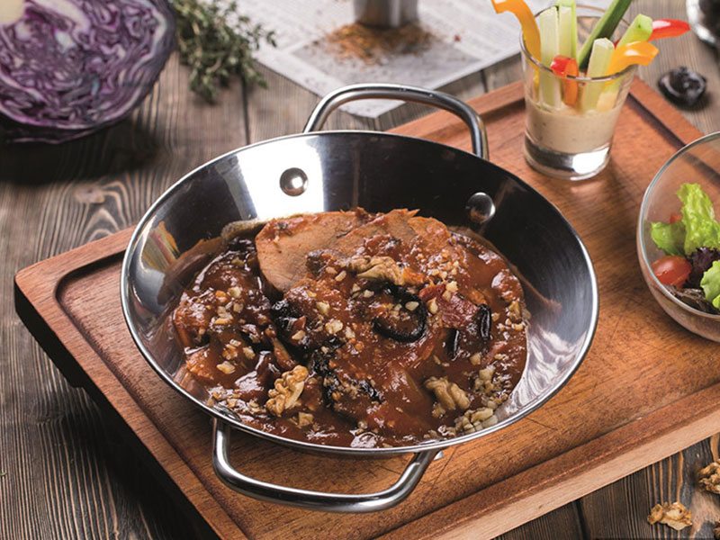 Beef with Prunes and Walnuts