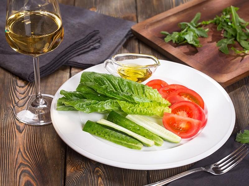新鲜拌蔬菜