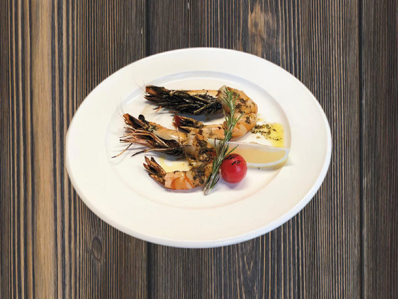 GRILLED TIGER PRAWNS WITH HERBES DE PROVENCE